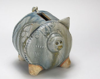 Frosty Blues Small Piggy Bank