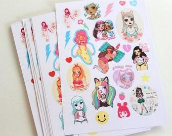 Sticker Heaven #3 - 4x7 inches sticker sheet