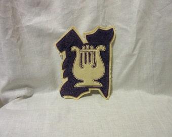 Vintage College Emblem (Patch) with Lyre
