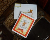 Dog Birthday Card with Matching Art Envelope