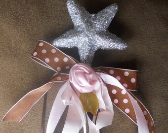 Would You Be My Fairy Godmother Wand with Pink and Brown