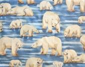 Polar Bear Cotton Fabric - V. I. P. Print from Cranston Print Works