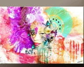 """Abstract Art Print 11x14"""" or 19x13"""" Contemporary Fantasy Surreal Wall Art by Destiny Womack - dWo -  In My World - dWo"""