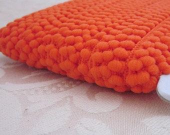 Bright Orange Mini Pompom Trim