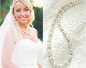 Pearl Wedding Necklace- Fireball - Swarovski Pearl - Bridal Necklace
