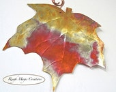 Maple Leaf Copper Wall Hanging Eco Friendly Metal Autumn Leaves Home Decor