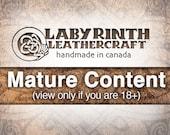 Belt Buckle, Leather Insert Belt Buckle, Buckle - Vintage Pleasure - MATURE