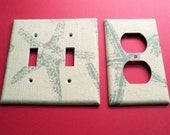 Reserved Order - Pair of Starfish Switch Plate Covers