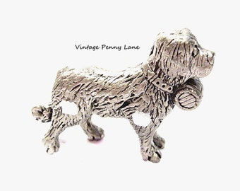 Miniature Pewter Dog, Metal Figurine
