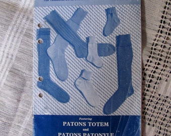 Patons Book C.16 - Gloves & Socks for all the family - Vintage Kniting Pattern - ACTUAL PATTERN BOOKLET