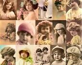 Vintage Postcard Images, 25 Fully Digitally Restored Images, All Uses Okay (Set#2) Instant Download