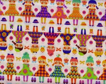 Half Yard Japanese Fabric Cotton Cute Girls