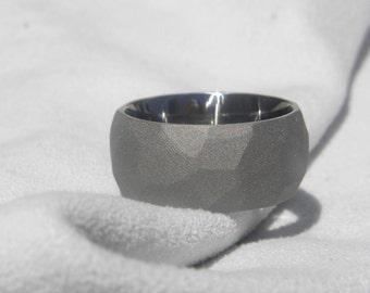 Wedding Ring, Titanium Band, Ground profile Sandblasted