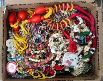 DESTASH 10 Pounds of Jewelry for Crafting Wearing or Salvage - FREE Shipping