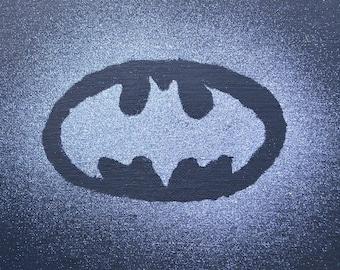 Canvas, Painting 10x8, Batman, Sparkles