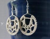 Extraordinary Webbed Lace Earrings - Hand Crocheted Earrings