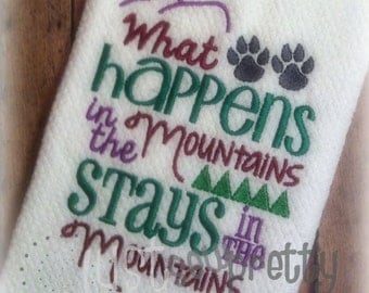 In The Mountains Embroidery Design