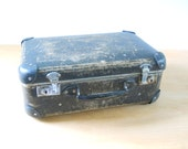 Vintage Black Suitcase Small • Small Pressed Board Instrument Case