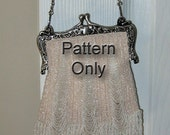 1927 Beaded Knit Purse Pattern The Three Widening Panels