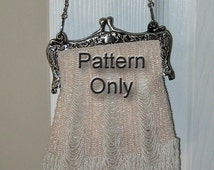 1927 Beaded Knit Purse Pattern The Three Widening Panels