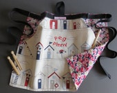 Peg Pinnies in novelty prints OOAK with floral backing