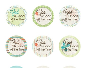 Instant Download ~ GOD is good all the time ~ Scripture (1 Inch Round) Bottle Cap Images Digital Collage Sheet printable stickers Bible