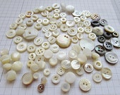 100 Vintage Mother of Pearl Buttons Shell MOP Tinies Handpicked Great for Mixed Media Jewelry Altered Art Quilting and Much More