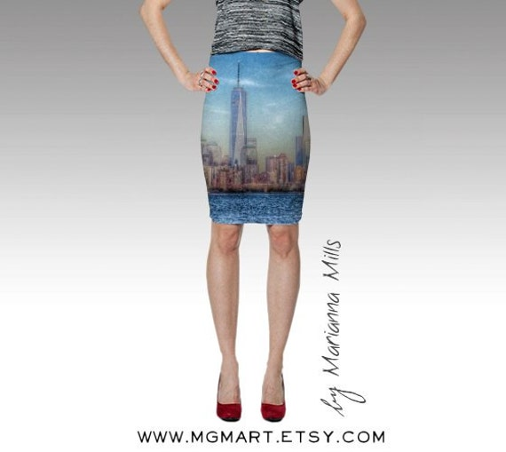 Items similar to new york fitted skirt urban city