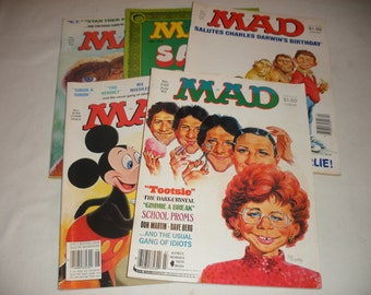 Vintage Mad Magazine From 1983 Issue's 5 Issue's