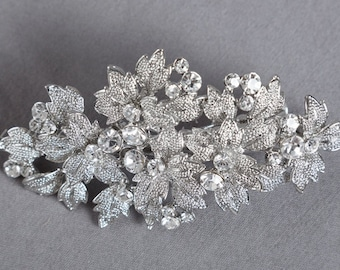 Rhinestone Bridal Hair Clip, Wedding Headpiece, Bridal Hair Piece, Crystal Head Piece - Lynnet