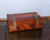 Antique Vintage Wood Wooden Cedar Chest Vintage Wooden Cedar Chest Jewelry Box Vintage Wooden Box