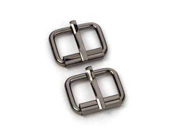 "100pcs - 3/4"" Roller Pin Belt Buckles - Black Nickel - Free Shipping (ROLLER BUCKLE RBK-111)"