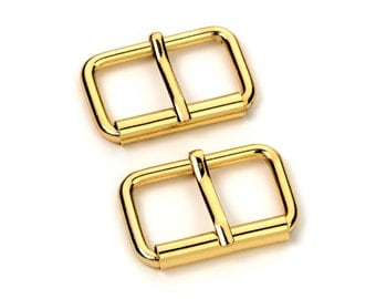 """50pcs - 1 1/4"""" Roller Pin Belt Buckles - Gold - Free Shipping (ROLLER BUCKLE RBK-117)"""
