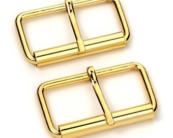 """30pcs - 2"""" Roller Pin Belt Buckles - Gold - Free Shipping (ROLLER BUCKLE RBK-125)"""