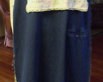 Denim,Lace and Roses/Refashioned/1-2X Jumper/Maxi