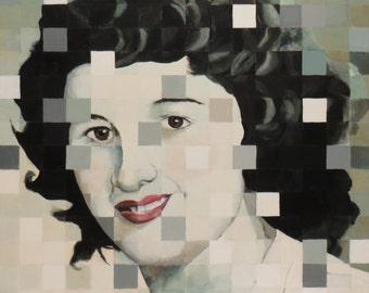 Lois - An Original Painting by Elizabeth Bauman
