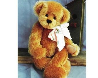 "Simon- 17"" of TeddyBear Pattern by Linda Johnson of BEARDEAUX BEARS"