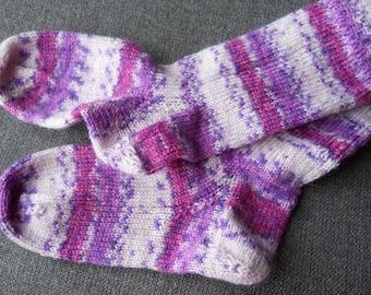 children' s hand knitted socks,/  knitted socks ,/ handmade children' socks/mult coloured socks,cream child's socks