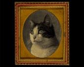 custom printable daguerreotype portrait - cat, dog, or person