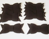 10 Black bowties, wedding decoration, party decoration, scrapbook embellishment, invitation embellishment, 3-d bowtie, paper bow tie, bowtie