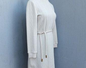 1970s  Butte Knit Beige Sweater Dress / Sweater Dress, Winter Fashion