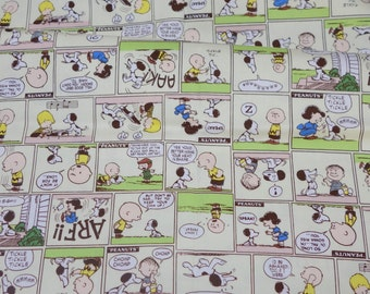 Peanuts Worldwide LLC Licensed fabric Snoopy print Japanese fabric 50 cm by 106  cm or 19.6 by 42  inches Half Meter
