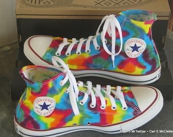 Children's MADE to ORDER  Tie-Dye Hi Top Converse Sneakers
