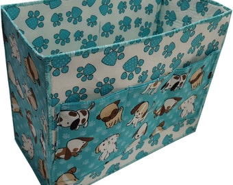 Large Organizer for Baby Nursery , Baby Shower Gift in Puppy and Paw Prints