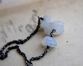 Moonstone Necklace, Moonstone Jewelry, Gemstone Necklace, Rainbow Moonstone, Sterling Silver, Gemstone Jewelry, Crystal Necklace, PoleStar