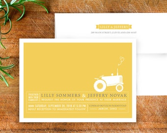 Rustic Farm Wedding Invitation Suite
