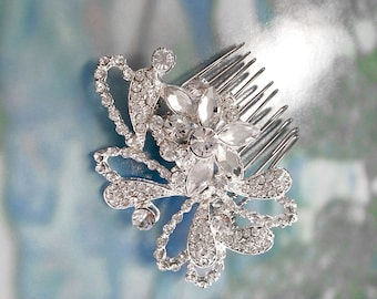 SALE, Wedding Hair Comb with Rhinestones, Wedding Headpiece, Silver Comb, Bridal Crystal Hair Comb, Bridal Hair Accessory, Bridesmaid Gift