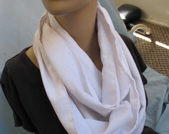 SALE - Beautiful White Cowl/Circle Scarf/Infinity Scarf (4427)