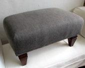 custom order one ottoman ikat wedgewood fabric