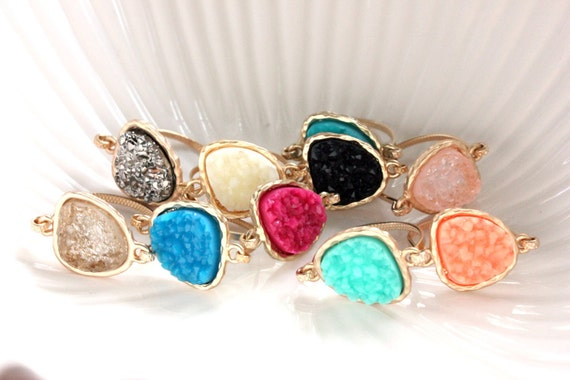 Druzy Rings from Etsy $12.50